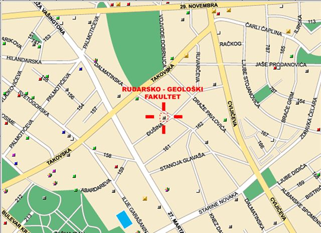 Mapa Beograda Fakulteti Superjoden